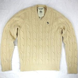 Abercrombie Fitch Wool Cashmere Knit VNeck Sweater